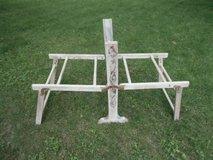 rare antique washtub holder frame for square galvanized tubs stand foldable in Brookfield, Wisconsin