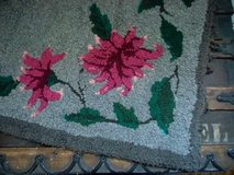 antique hand hooked rug victorian floral in Brookfield, Wisconsin