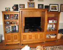 Maple Entertainment Center with Bookcases in Joliet, Illinois
