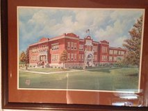 Clarksville High School 1906-1968 Matted Framed Signed by Artist Limit in Dover, Tennessee