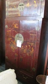 SALE 2 Piece Asian Blanket Chest and Armoire in Glendale Heights, Illinois