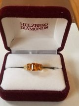3 Stone Citrine 10K gold ring in Bartlett, Illinois
