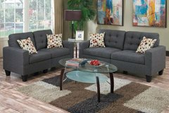 New Blue Gray Linen Sofa and Loveseat FREE DELIVERY in Camp Pendleton, California