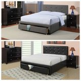 New! FULL or QUEEN CHARCOAL or BLACK Bed Frame + Storage FREE DELIVERY in Miramar, California