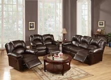 New Espresso Leatherette Sofa Recliner  FREE DELIVERY starting in Camp Pendleton, California