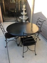 Solid Wood and Wrought Iron 5 Piece Dining Set in Vacaville, California