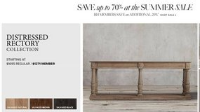 Restoration Hardware Rectory Table - Salvaged Natural - Used in Bolling AFB, DC