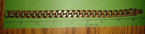 Solid Copper Diamond Cut Bracelet in Chicago, Illinois