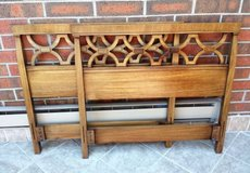 Two Vintage Drexel Headboards Twin Bed Wood Mid Century in St. Charles, Illinois