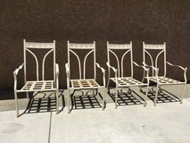 Vintage Heavy-Duty Stackable Patio Chairs, Set of 4 in Fairfield, California