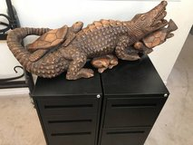 4ft Fused Crocodile, Turtles & Frogs Wood Carving-Moutego Bay, Jamaica in Bolingbrook, Illinois