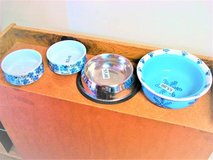 Medium & Large dog bowls $3 and $5 each (2 each) in Joliet, Illinois