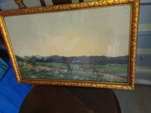 German Lithograph? Antique or vintage? framed in Fairfield, California