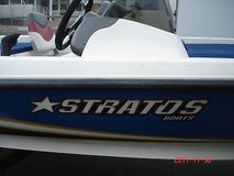 2006 18ft stratos bass boat, mercury 60hp four stroke 12 volt trolling motor in Vacaville, California