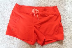 Athleta Clearwater Saffron Red Swim Board Shorts, Contrast Tie, Size 8,  #983383 in Shorewood, Illinois