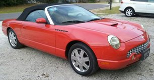 Garage Kept Torch Red 2002 Ford Thunderbird Convertible with Low Miles in Cherry Point, North Carolina