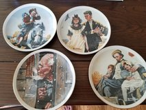 Set of 4: Norman Rockwell decorative wall hanging plates mint condition in Wheaton, Illinois