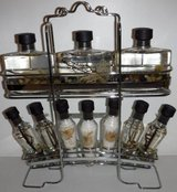 New, Never Opened! Bath Oil & Crystals Set w/ Stainless Steel Caddy in Westmont, Illinois
