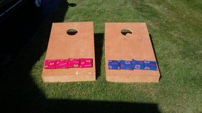Corn hole / Bags - Boxes with Blackhawks and Cubs Bags in Morris, Illinois