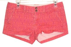 American Eagle Pink Orange Abstract Flap Pocket Short Shorts Womens 2 Stretch in Morris, Illinois