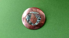 Copper Brooch / Pendant Abalone Inlay in Plainfield, Illinois