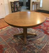 Solid Oak Table with 6 Chairs and 2 Leaves in Joliet, Illinois
