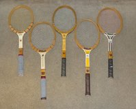 Lot of 5 Vintage Wilson Wooden Tennis Rackets Racquets in Westmont, Illinois