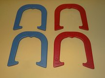 Bandit Pitching Horseshoes - Two Pair Set (4 shoes) Red & Blue / Made in USA NEW in Plainfield, Illinois