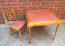 Vintage Leg-O-Matic Folding Table and Chair Mid Century in Sugar Grove, Illinois
