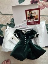American Girl Molly's Retired Christmas Evergreen Velvet Dress Hair Ri in Schaumburg, Illinois