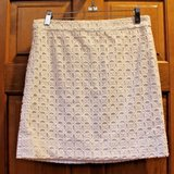 J.Crew White Cotton Eyelet Lined A-Line Skirt, Size 2 in Joliet, Illinois
