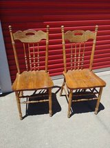 Antique or vintage solid wood chairs 2 in Vacaville, California
