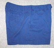 """Ann Taylor LOFT Blue City Shorts, Flat Front, 4"""" Inseam, Size 10 in St. Charles, Illinois"""