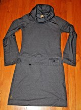 Lolë Heather Gray UPF 50+ Stylish Stretch Cowl Neck Dress, Roll Tab Sleeves, Small in Oswego, Illinois
