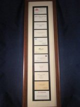 Business Card Frame 10 Famous Men Business Cards + Yours ~ Gift for First Jo in Lockport, Illinois