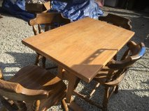 VINTAGE WOODEN RECTANGULAR TABLE (NO CHAIRS) TABLE ONLY in Chicago, Illinois