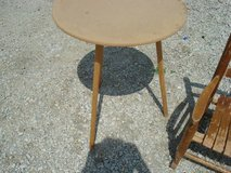 """3 leg - round table (does not have glass) shown """"as is"""" in Shorewood, Illinois"""