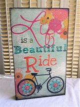 """Life is a Beautiful Ride"" Wood Sign Wall Hanging Bike Bicycle Art in Aurora, Illinois"