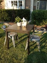 Table & 2 Metal Chairs in Plainfield, Illinois