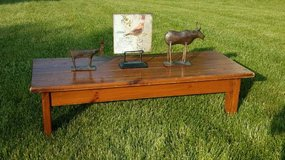 Rustic Wooden Coffee Table / Bench in Plainfield, Illinois