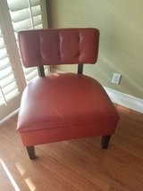 Red Faux leather chair in San Clemente, California