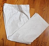 J.Crew Stretch White Cropped City Fit Pants, Flat Front, Sz 8 in Aurora, Illinois