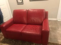 Red Leather Furniture Set in Kingwood, Texas