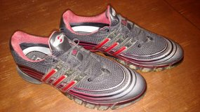 Adidas Powerband Golf Shoes - Black and Red - Size 12 in Batavia, Illinois