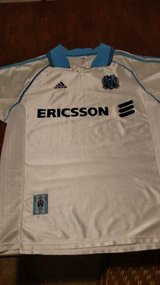 Olympique De Marseille Adidas Home Jersey White 98/99 - Large in Bartlett, Illinois