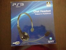 PS3 Chat Headset, barely used in Chicago, Illinois