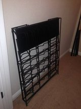 Folding Black Iron Wine and Wine Glass Rack in Lackland AFB, Texas