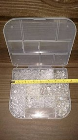 clear bead assortment in storage case in Bolingbrook, Illinois