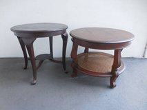 2 Round Wooden Tables in Camp Pendleton, California