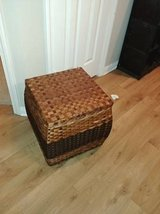 Rattan woven storage box trunk with lid in Roseville, California